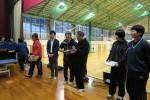 島根リハビリテーション学院と女子バレー部が連携しています。